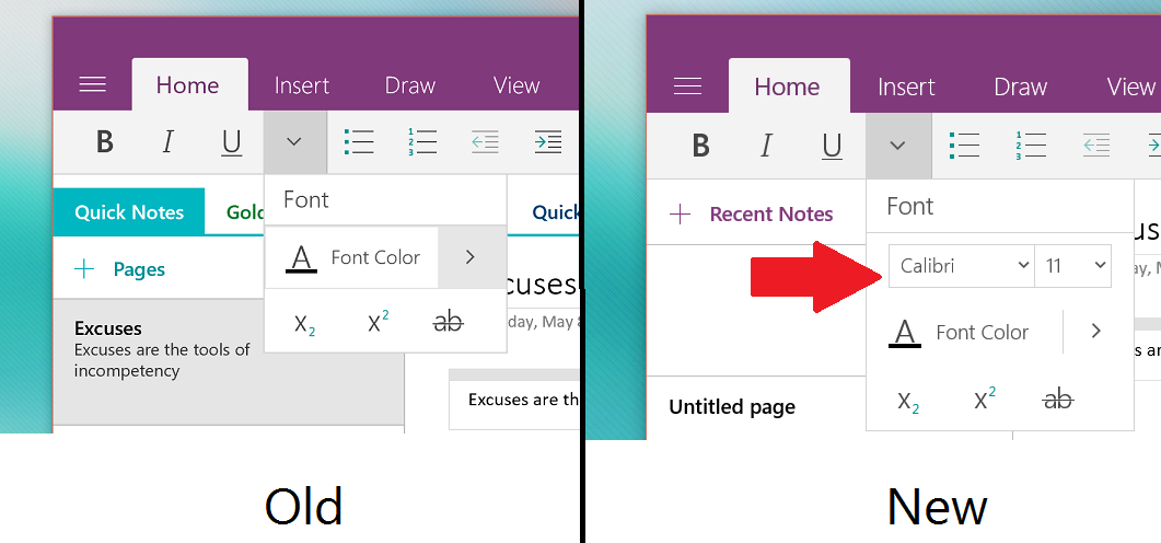 onenote-font-size-new-old-screenshot