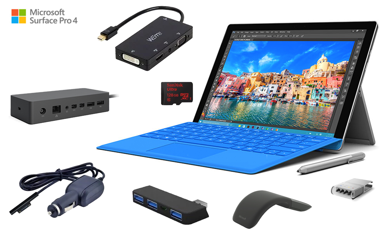 top 12 must have microsoft surface pro 4 accessories. Black Bedroom Furniture Sets. Home Design Ideas