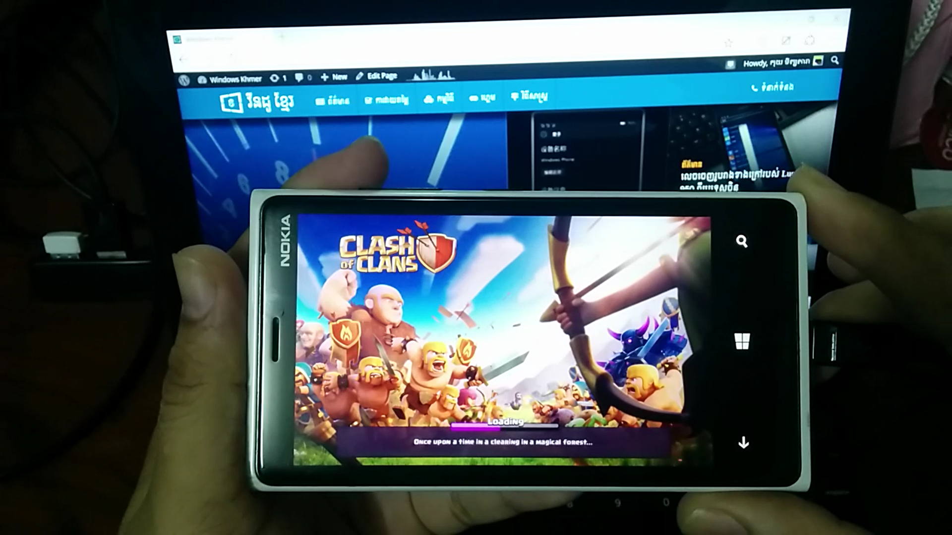 Clash of Clans Running on Windows 10 Mobile